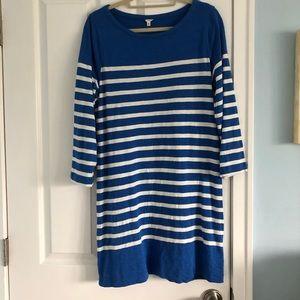 Jcrew striped cobalt blue dress!